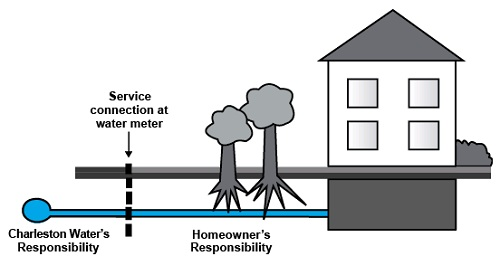 Diagram of Service Connection Boundaries