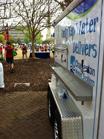 The Water Wagon provides chilled drinking water for community events.